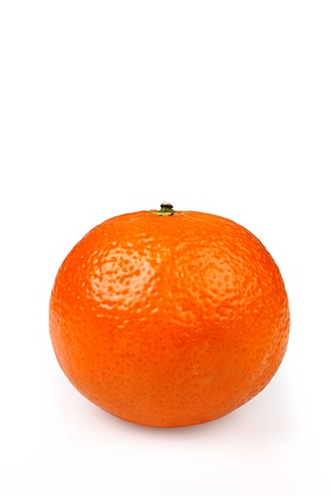 Ripe tangerines on a white background Stock Photo - 17513132
