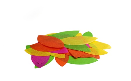 Colorful leaves of paper.isoleted on a white background Stock Photo - 17750759