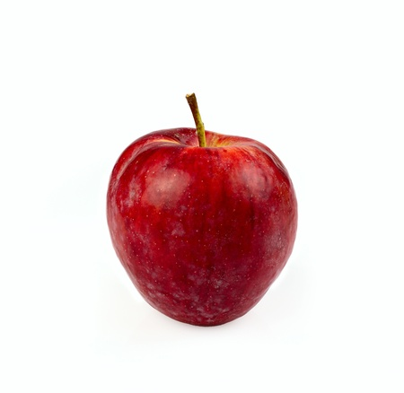 Red, ripe apple.isolated on a white background