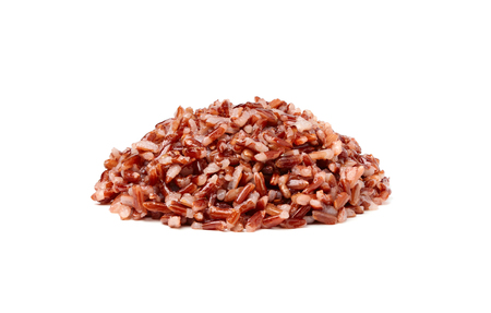 Cooked wild rice isolated on white background.