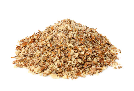 Crushed Seeds of a Milk Thistle (Silybum marianum,Scotch Thistle,Marian Thistle). Stock Photo