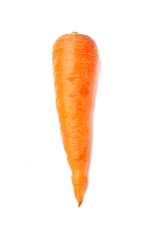Carrots isolated vertically on a white background.