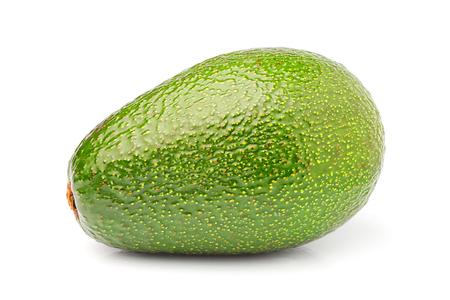 Fresh ripe avocado close up isolated on white background.