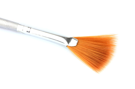 Brush for manicure isolated closeup on white background.
