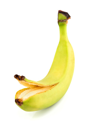 Banana isolated clouse up on white background.