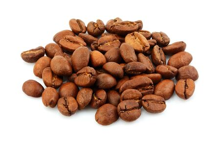 Coffee beans isolated on a white background. Stock Photo