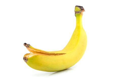 Banana isolated on white background. Natural fruit.