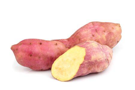 Sweet potato isolated on the white background. Stock Photo