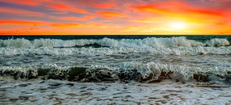 Sea sunset 版權商用圖片