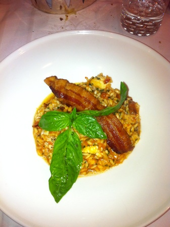 Caribbean risotto with bacon shrimp and more