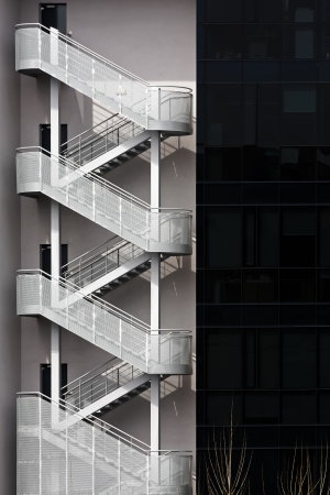 escapes: Modern building with fire escapes