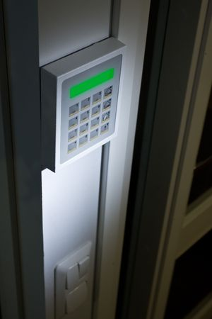 Close up image of a Security keypad Stock Photo - 4446428