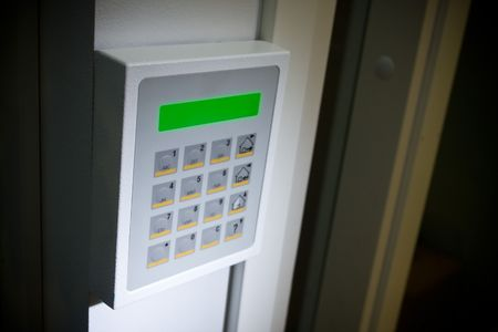 control centre: Close up image of a Security keypad