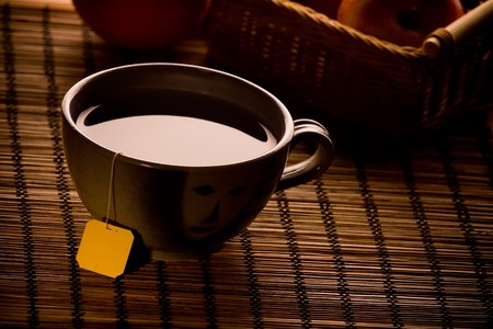 cup of tea in the evening photo