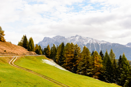 The colors of autumn in the Dolomites
