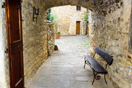 And old tuscan alley of the small town of San Sano