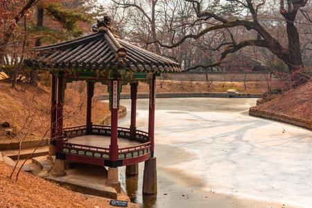 Ordinaire Changdeokgung Palace   Secret Garden Pagodas In Winter Season   Seoul,  Republic Of Korea Stock