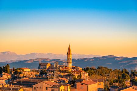 Scenic view of the italian city of Perugia in Umbria Stock Photo