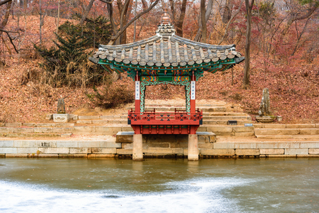 Changdeokgung Palace   Secret Garden Pagodas In Winter Season   Seoul,  Republic Of Korea Stock