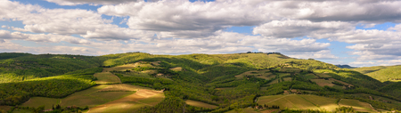 View of the countryside near the famous town of Radda in Chianti, Tuscany, Italy