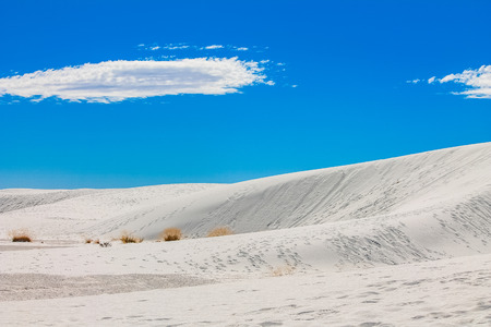 alamogordo: View of the White Sands National Monument in New Mexico, United States