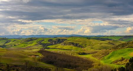 Scenic view of the countryside near Siena, Tuscany, Italy