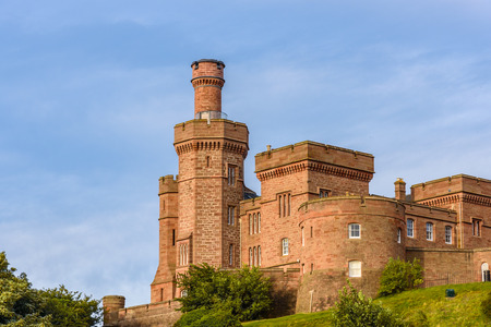 View of the castle of Inverness in Scotland. Editorial