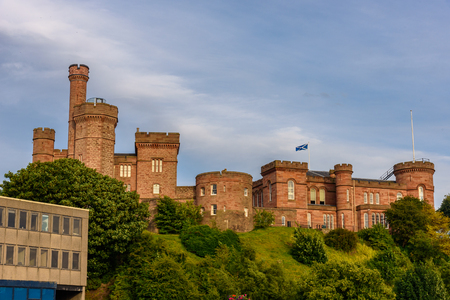 ness river: View of the castle of Inverness in Scotland. Editorial