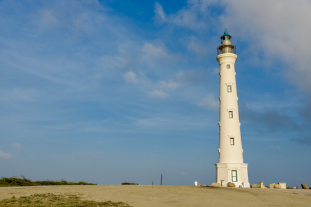 View of the California Lighthouse in Noord, Aruba. 写真素材