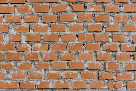 Brick wall background. Red bricks pattern.