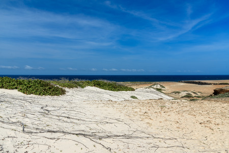 Scenic view of the dry and arid nature of the Arikok National Park in Aruba. Stock Photo