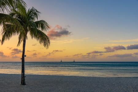 Idyllic sunset on a tropical beach