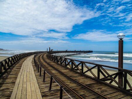 Old pier in Huanchaco in Peru near Lima Stock fotó