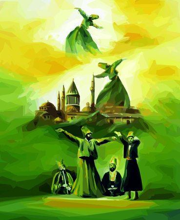 whirling: Dance of semazens, mosque, Galata