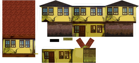 bina: 3D Printable Paper Craft Old House