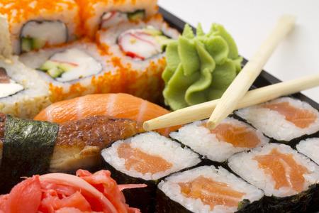 bento box: Sushi bento box with chopsticks