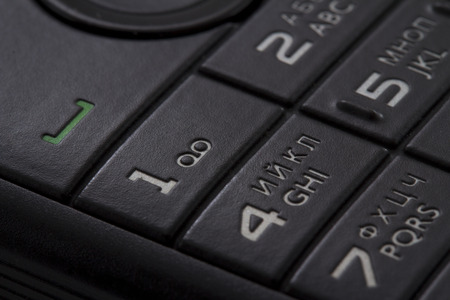 oldened: keypad of a cellphone