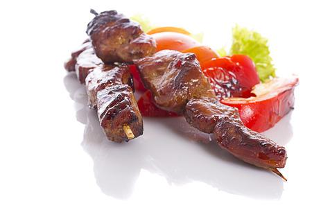 Kebab over white background 版權商用圖片