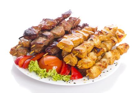 Kebab over white background Banco de Imagens