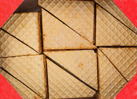 wafers: wafers in triangle shape