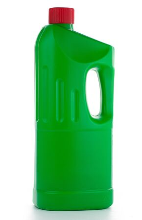 bootle: Bootle with detergent isolated on white background Stock Photo