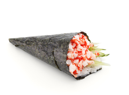 grig: Water color sushi temaki isolated on white background Stock Photo