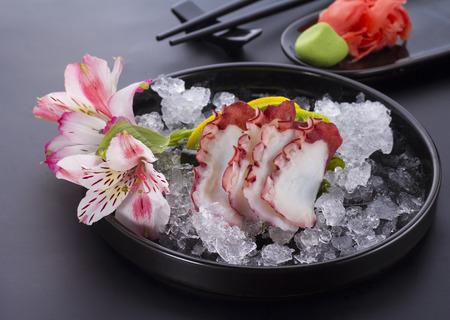 Octopus sashimi, japanese couisine