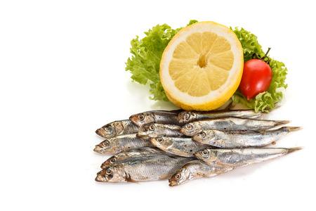 Sprat fish isolated on white background
