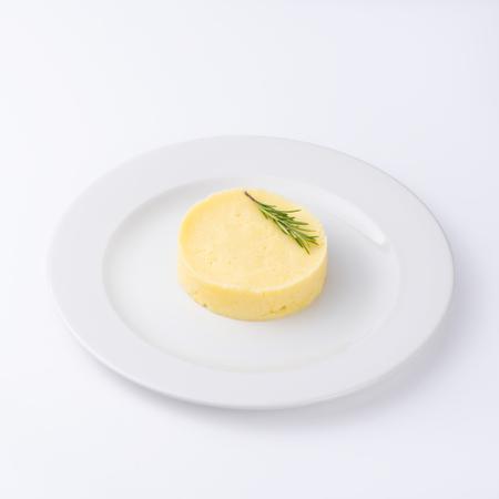 Mashed potatoes. Restaurant menu. Isolated on white background.