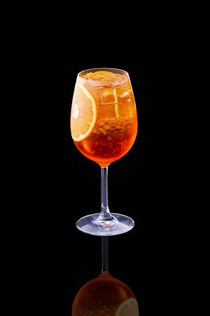 Tasty cocktails on black 版權商用圖片