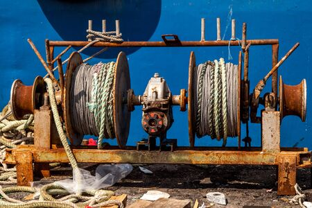 coil ropes in the port Banque d'images