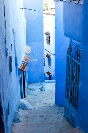blue streets of Morocco