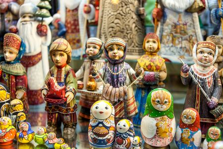 Ethnic painted toys.