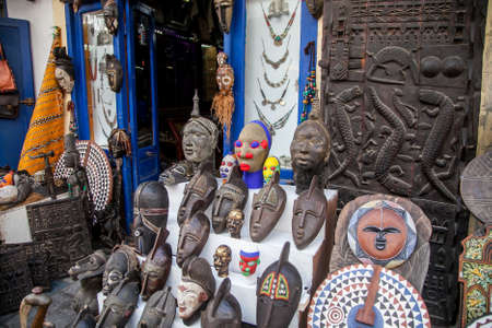 African masks made of wood